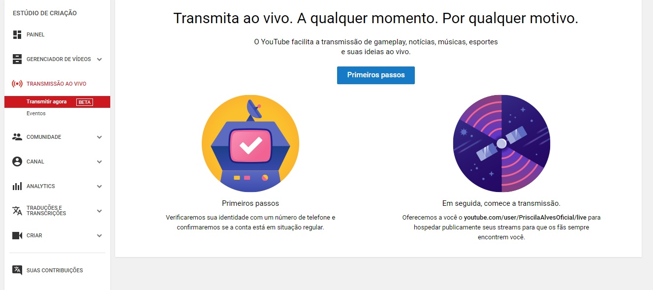 youtube-transmissao