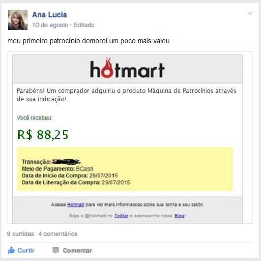 Depoimento Lucia Máquina de Patrocínios