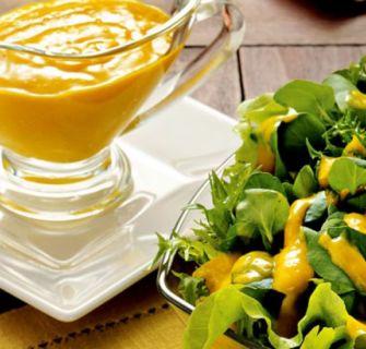 salada com molho de Mostarda e mel